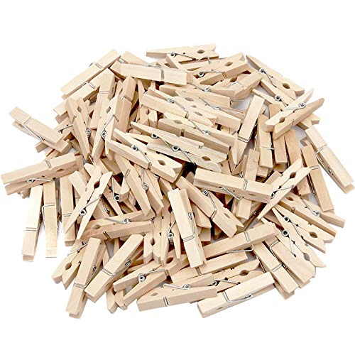 Generic Sturdy Natural Wood Clothespins 1 -