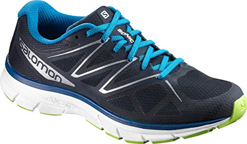 Mens Running Shoes Uk - Salomon Sonic Running Shoe - Men's Navy Blazer/White/Imperial Blue, US 10.5/UK 10.0