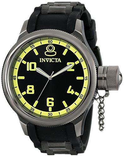 Invicta Men's 1440 Russian Diver Black Rubber Dial Watch