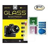 2-Pack Deerekin 2.5D Tempered Glass LCD Screen Protector for Canon Powershot G7 X / G7X / G7X Mark II / G9X / G9X II / G5X