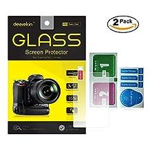2-Pack Deerekin 2.5D Tempered Glass LCD Screen Protector for Canon Powershot G7 X / G7X / G7X Mark II / G9X / G5X