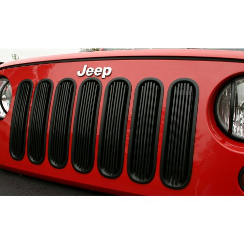 Rugged Ridge 11401.30 Black Polished Aluminum Billet Grille Insert
