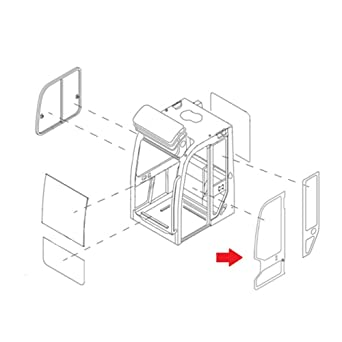 amazon com: 0568639430 full door gl made for takeuchi compact     on