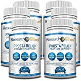 Research Verified Prosta Relief - Best Saw Palmetto Prostate Health; Improves Bladder & Urinary Health, Sexual Drive and Performance; Pure Natural Ingredients; 6 Bottles (6 Months Supply)