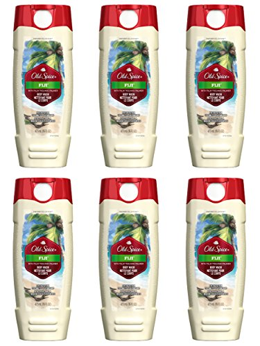 Old Spice Fresher Collection Men's Body Wash, Fiji, 16 Fluid Ounce (Pack of 6) from Old Spice