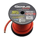 Genius GC-PC0GAORC 0 Gauge Power Cable 100% Copper Roll Orange 50ft. Competition Series