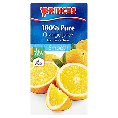 ( 27 Pack ) Princes 100% Pure Orange Juice from Concentrate Smooth 200ml