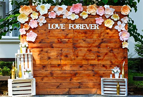 AOFOTO 6x4ft Romantic Wedding Ceremony Decoration Background Arch Of Love Forever Photography Backdrop Paper Flowers Photo Studio Props Bride Girlfriend Couple Artistic Portrait Vinyl Wallpaper ()