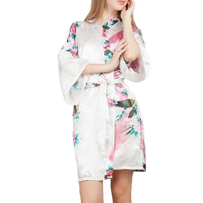 YOLIA las Mujeres de Verano Corto Camisones, Batas Novedad Camisones Kimono Loungewear Batas: Amazon.es: Ropa y accesorios