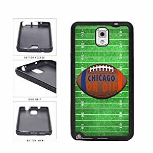 Chicago or Die Football Field TPU RUBBER SILICONE Phone Case Back Cover Samsung Galaxy Note III 3 N9002