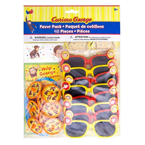 Curious George Birthday Party Supplies and Decorations for Kids Bday (Party Favor Pack - 48 pcs)]()