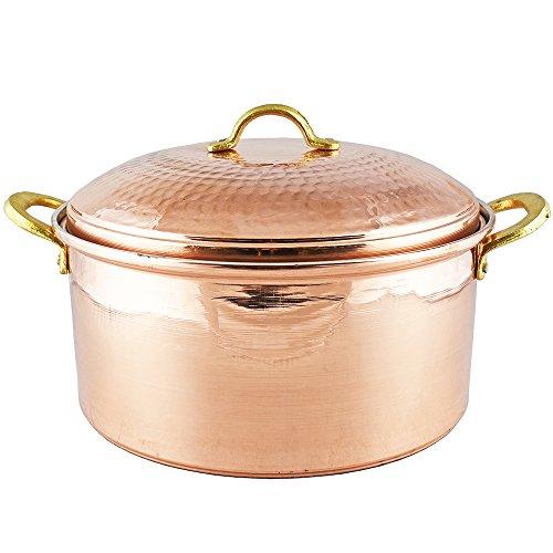 Copper Cookware 11.05 inches, 1.2 mm Thick Copper Pot, Pan, Casserole Dish, Pot, Copperware, Chef, Healthiest Cooking, Skillet, Saucepan, Wok, Kitchen Set, Healthy Casseroles