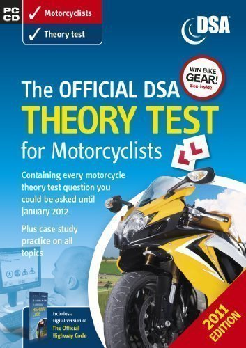 (The Official DSA Theory Test for Motorcyclists CD-ROM (2011 edition) by Driving Standards Ag (2010))