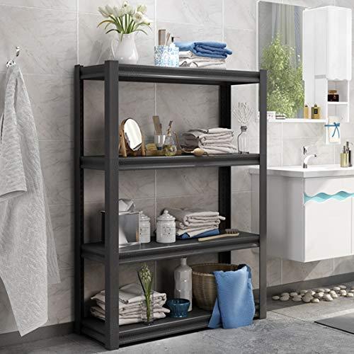 4-Tier Bookcase Multipurpose Industrial Shelf Display Rack Stand Storage Workstation Shelf ()