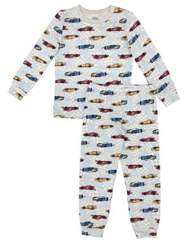 Esme Boys Pajamas Crew Neck Long Sleeve Pant Set 8 Race Car