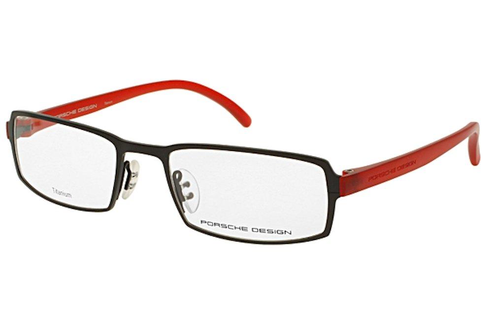 Porsche Design Men's Eyeglasses P'8145 8145 A Matte Black/Red Optical Frame 55mm