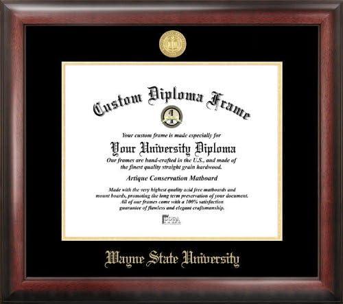 Campus Images Wayne State University Embossed Diploma Frame 8 X 10 Gold Amazon Co Uk Kitchen Home