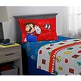 Nintendo Franco - Juego de sábanas, Super Mario Odyssey, 3 Piece Twin Size, 1, 1