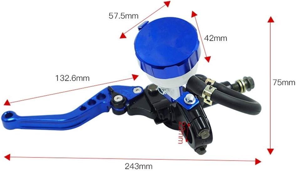 22mm motocicleta embrague hidr/áulico cilindro maestro del freno CNC bomba de la maneta palanca for Honda Yamaha Suzuki Accesorios de motos Color : Black