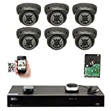 GW Security 8 Channel 4K NVR 5MP IP Camera Network PoE Surveillance System with 6-Piece HD 1920P Weatherproof Dome Security Cameras – Grey Review