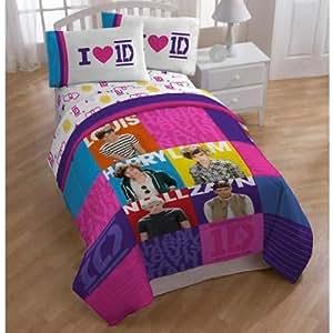 one direction twin comforter 1d patchwork bedding home kitchen. Black Bedroom Furniture Sets. Home Design Ideas