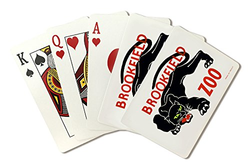 Brookfield Zoo Poster - Brookfield, IL - Panther (Playing Card Deck - 52 Card Poker Size with Jokers) -