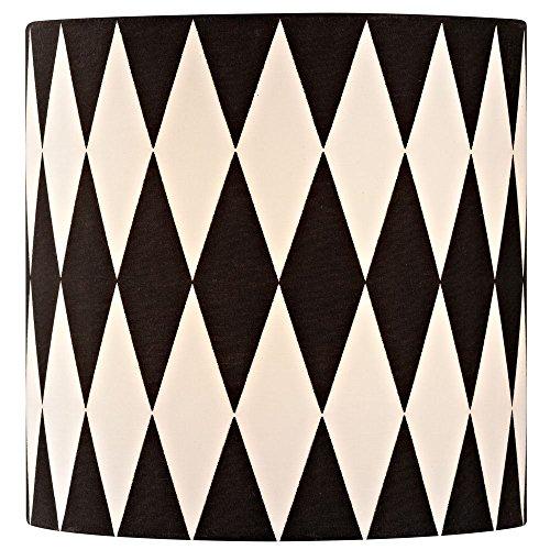 Black / White Drum Lamp Shade with Uno (Black Classic Drum)