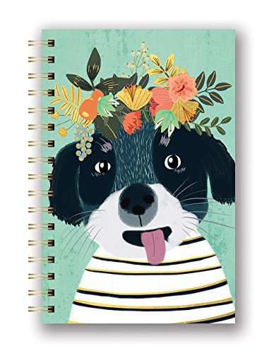 Studio Oh! Hardcover Medium Spiral Notebook Available in 9 Designs, Mia Charro Fancy Dog