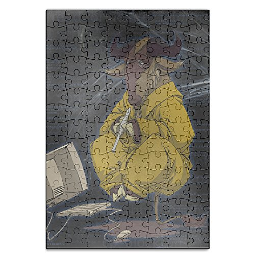 YYGOODS Goat Computer Engineer Amusing Jigsaw Puzzle A4 Picture Print Jigsaw Size 120 Pieces