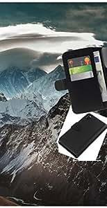 """A-type (Montaña Nevada del Himalaya"""") Colorida Impresión Funda Cuero Monedero Caja Bolsa Cubierta Caja Piel Card Slots Para Sony Xperia Z3 D6603"""