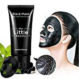 MY LITTLE BEAUTY Black Mask Deep Cleansing Blackhead Remover Purifying Peel Off The Black Head Acne Treatment Black Mud Tearing Style Face Mask (2 bottle)