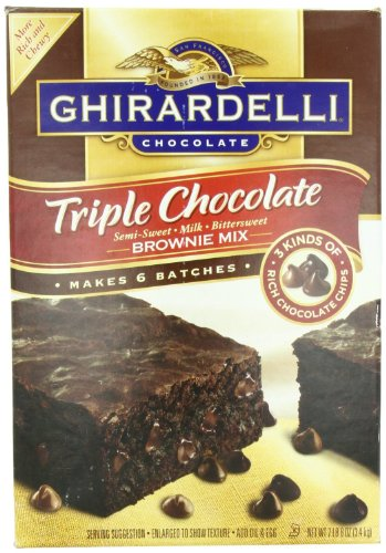 Ghirardelli Triple Chocolate Brownie Mix, Semi-Sweet, Milk, Bittersweet, 120 Ounce by Ghirardelli