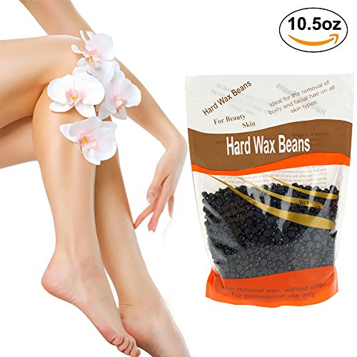 Hard Wax Beans, Natural Full-Body Hair Removal Wax Bean Professional Solid Pearl Wax for Women and Men Stripless for Arms, Legs, Face, Armpit, some Sensitive Areas,Bikini Area (Wax-Blackcurrant)