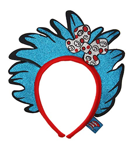 elope Dr Seuss Cat In The Hat Thing 1&2 Glitter Headband]()