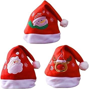 Sombrero de Santa,Gorro Navideno Adultos Ninos Gorro de Navidad Gorro de Papa Noel Reno de Papa Noel: Amazon.es: Juguetes y juegos
