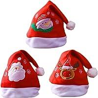 Sombrero de Santa,Gorro Navideno Adultos Ninos Gorro