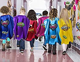 iROLEWIN Children Superhero Capes and Masks Toddler Boys and Girls Play Costume Dress up Party Supplies Birthday Props
