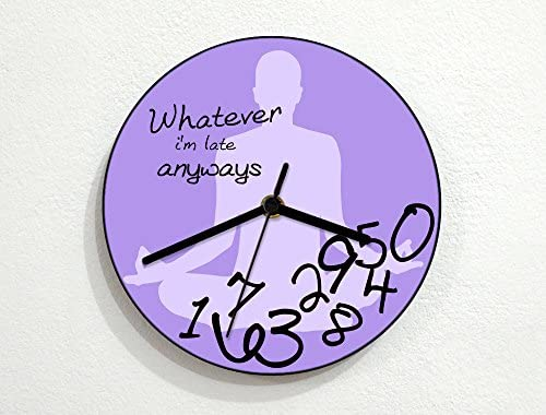 Yoga Whatever I M Late Anyways Novelty Gift Custom Name Wall