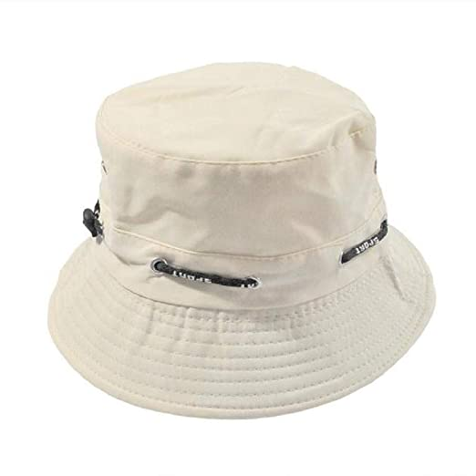 514518a8de2 ZZpioneer Unisex Cotton Bucket Hat Double Side Fishing Bush Cap Visor Sun  Outdoor Sun Protection Visor Fisherman Hat(Beige) at Amazon Women s  Clothing store ...