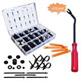 CESTLAVIE 415 PCS Auto Push Clips Car Retainer Clips & Plastic Fasteners Kit, 18 Most Popular Sizes for BMW/Benz/GM/Ford/Toyota/Chrysler Car Buckles and Accessories Set Car Door Fastener Clips