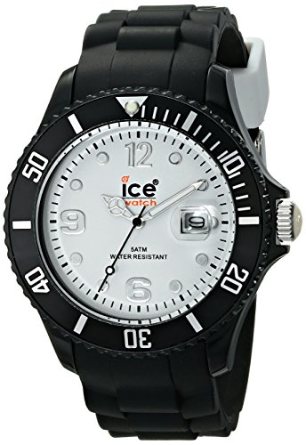 Ice Men's SIBWBS10 Ice-White White Dial with Black Bracelet Watch