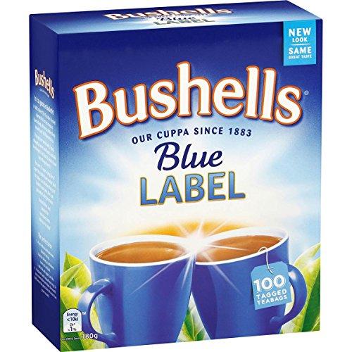 Australian Bushells Blue Label 100 Tagged Tea Bags
