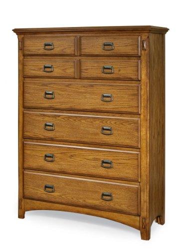 Mission Oak Oak Dresser - Imagio Home PR-BR-5406-MBN-C 6-Drawer Pasilla Chest in Mission Brown Finish
