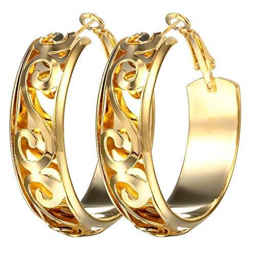 - Redvive Top Round Fashion Earring Women Fashion Hoop Studs Dangle Earrings Ear Studs Jewelry
