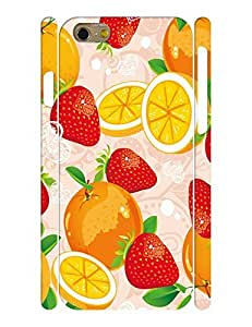 Fresh Theme Smart Phone Case With Lemon And Strawberry Printed Tough Case Cover for Iphone 6 (4.7) Inch wangjiang maoyi