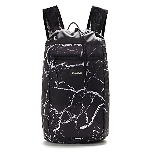 nch Drawstring Backpack (Black Marble) ()