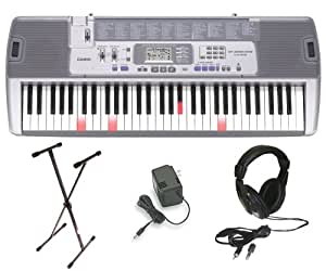 casio lk 100 lighted keyboard with premium accessories package musical instruments. Black Bedroom Furniture Sets. Home Design Ideas