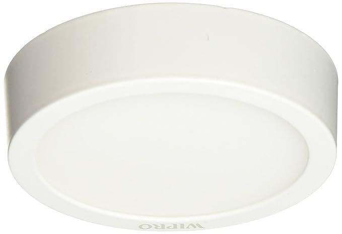 pretty nice 2e464 ecc59 Wipro D640665 Garnet 6-Watt Trimless Panel Light (Cool Day Light, White,  Round)