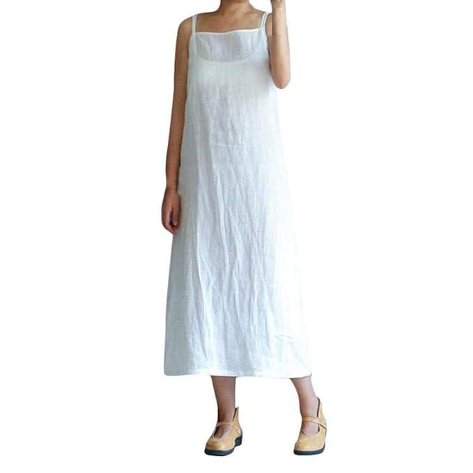 ... Verano 2018 Casual Playa Falda Verano para Sin Hombro Elegantes Tallas Grandes Vestidos, Algodón y Lino Vestido Verano Sexy Off Hombro: Amazon.es: Ropa ...