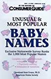 Unusual and Most Popular Baby Names, Consumer Guide Editors, 0451183630